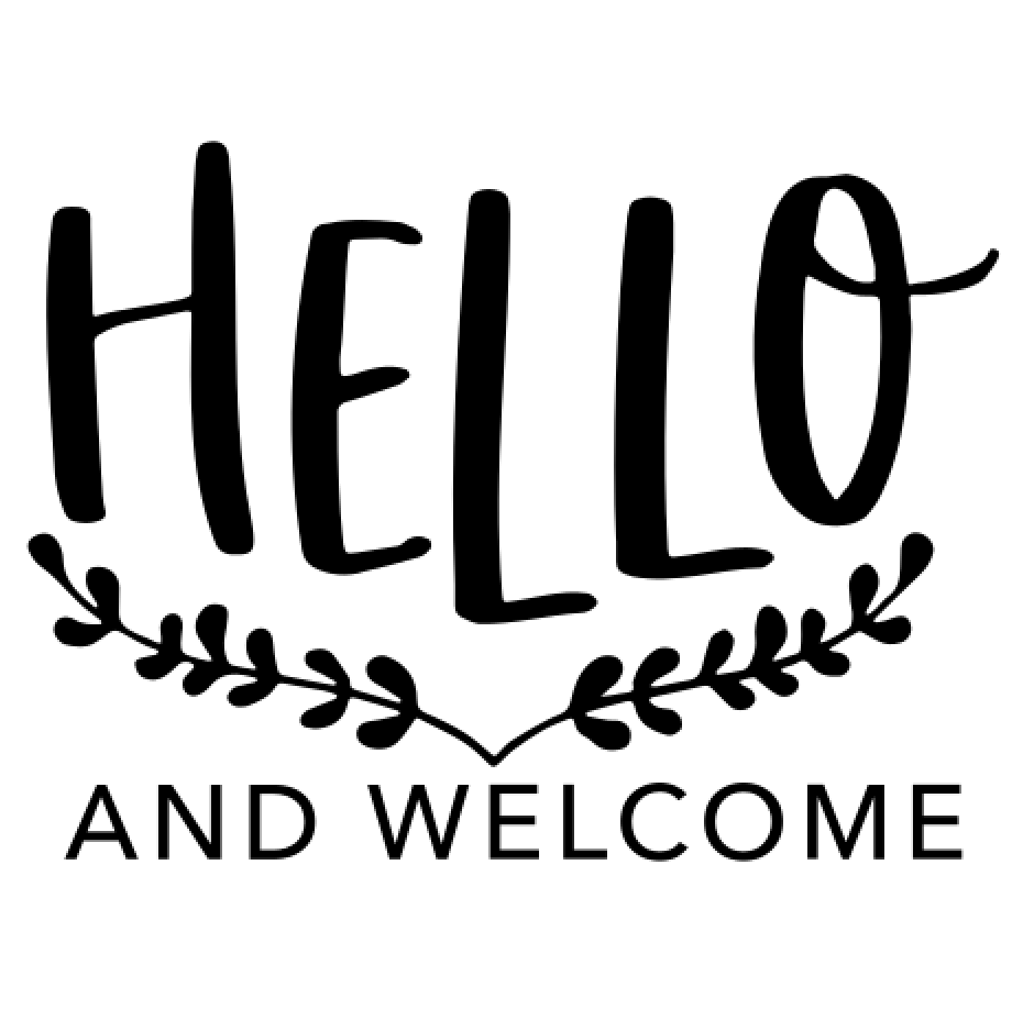 1 Hello and Welcome