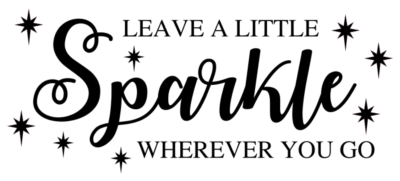 40 Leave a little sparkle