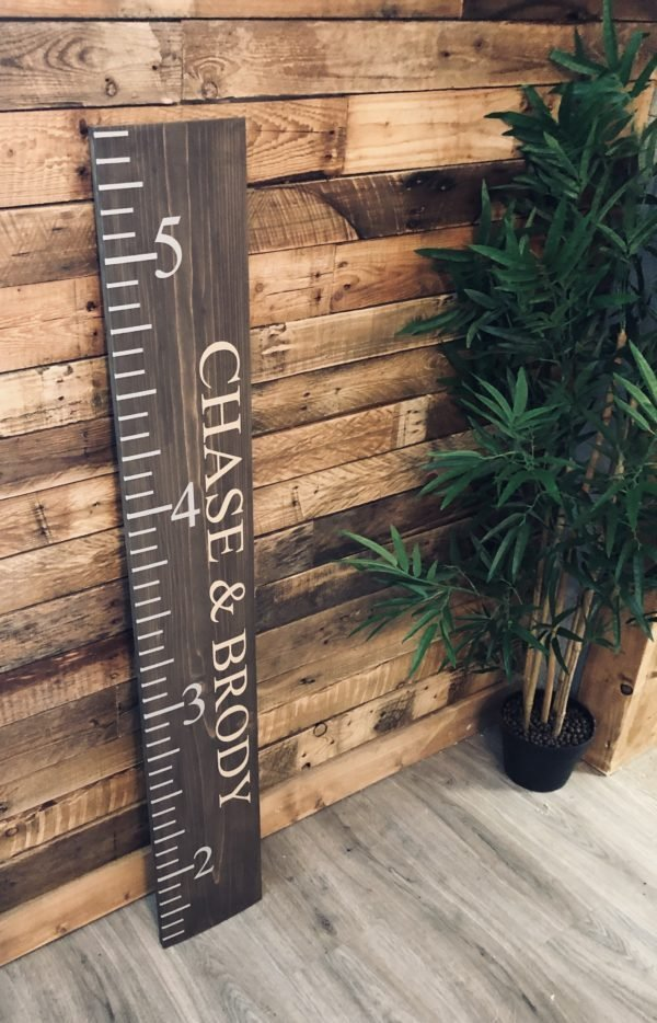 Giant Height Ruler Solid Pine Board 4ft x 20cm - £45 | The Twisted Knot
