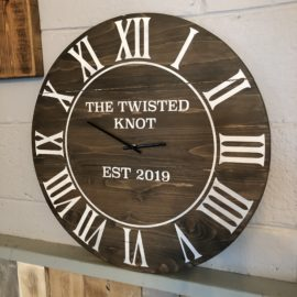 Slatted Circle Clock 45cm x 45cm - £45 | The Twisted Knot