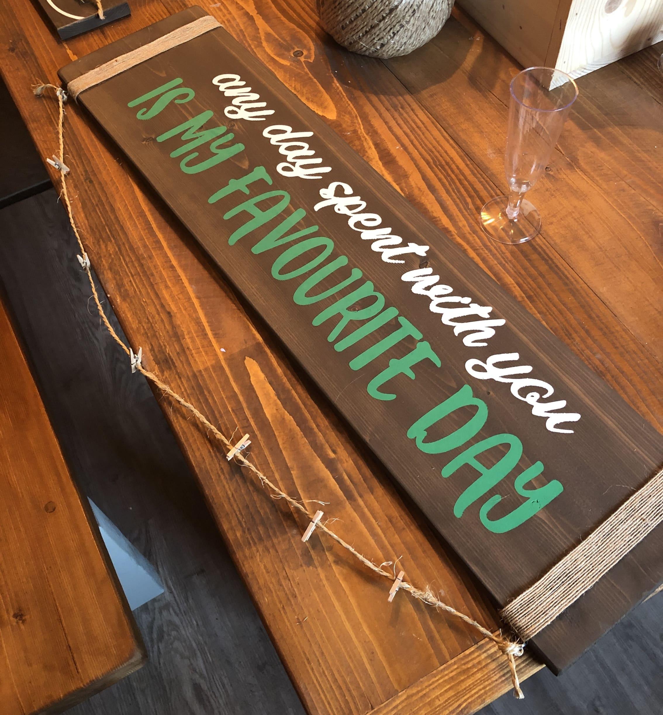 Photo Display Plank solid pine 80cm x 20cm - £30