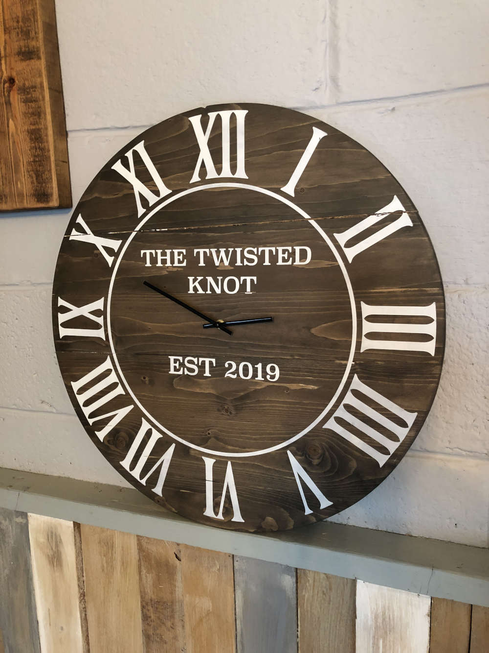 Slatted Circle Clock 45cm x 45cm - £45