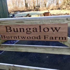 Customised Engraved Oak Signs