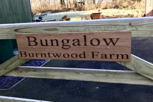Customised Engraved Oak Signs
