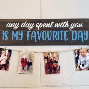 Photo Display Plank Solid Pine 80cm x 20cm- £35