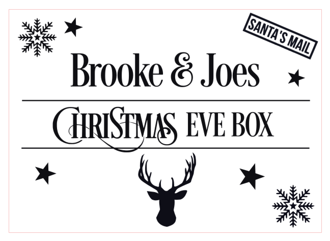 Christmas Eve Box Design 1