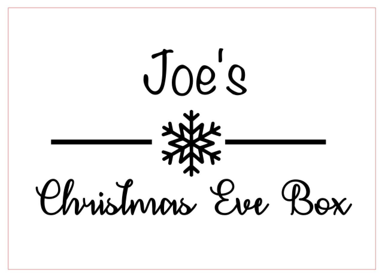Christmas eve box design 4