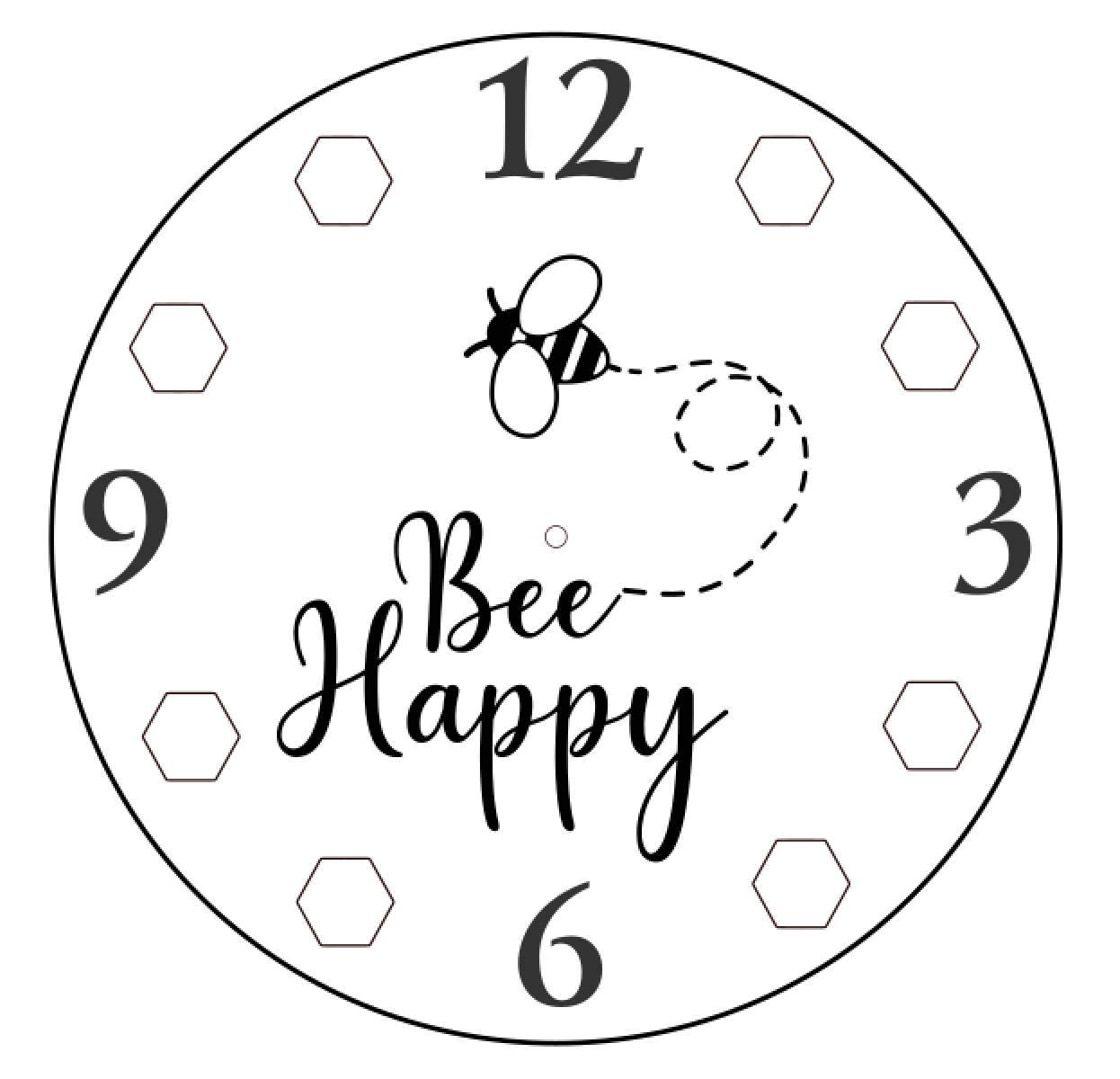 Design 5 Bee Happy Clock