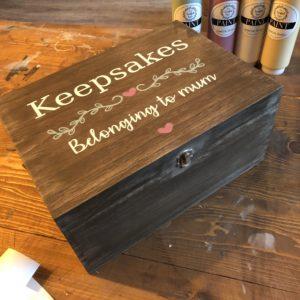 Extra Large Wooden Box 35cm x 25cm - £38