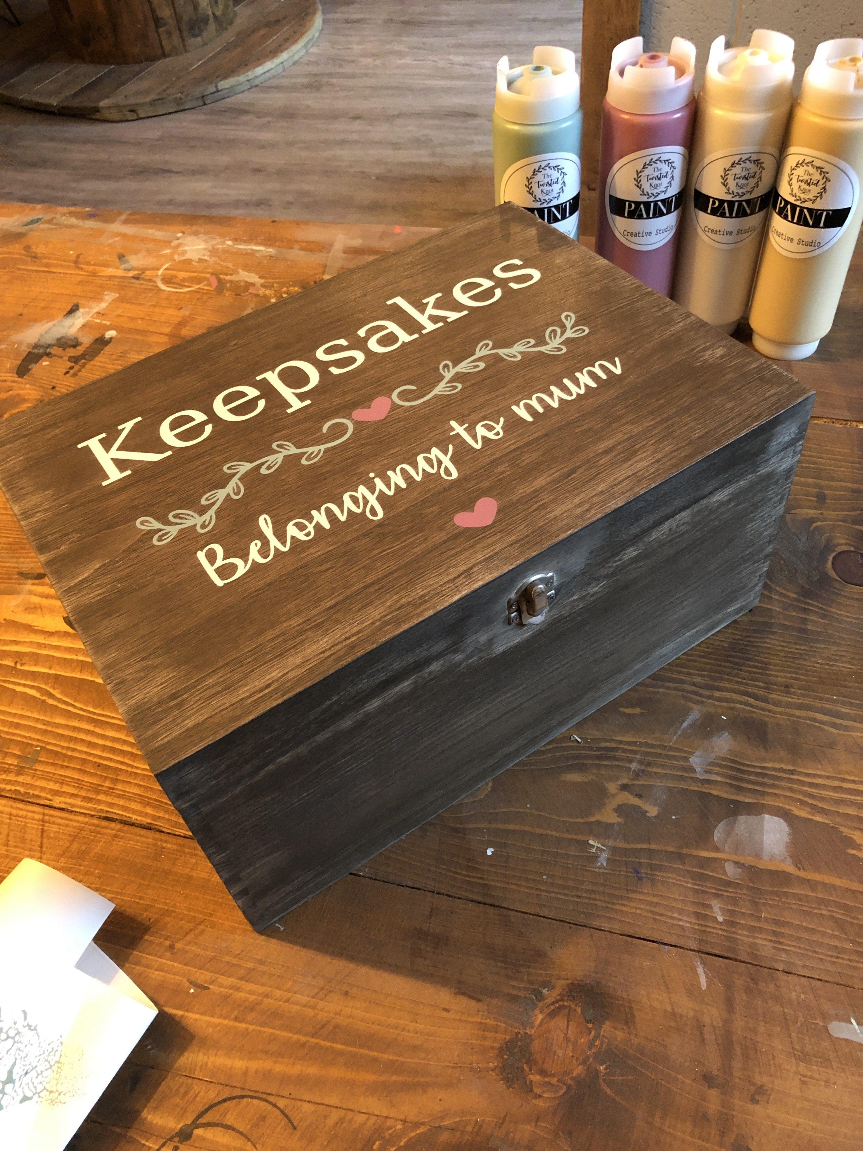 Large Wooden Box 35cm x 25cm - £38
