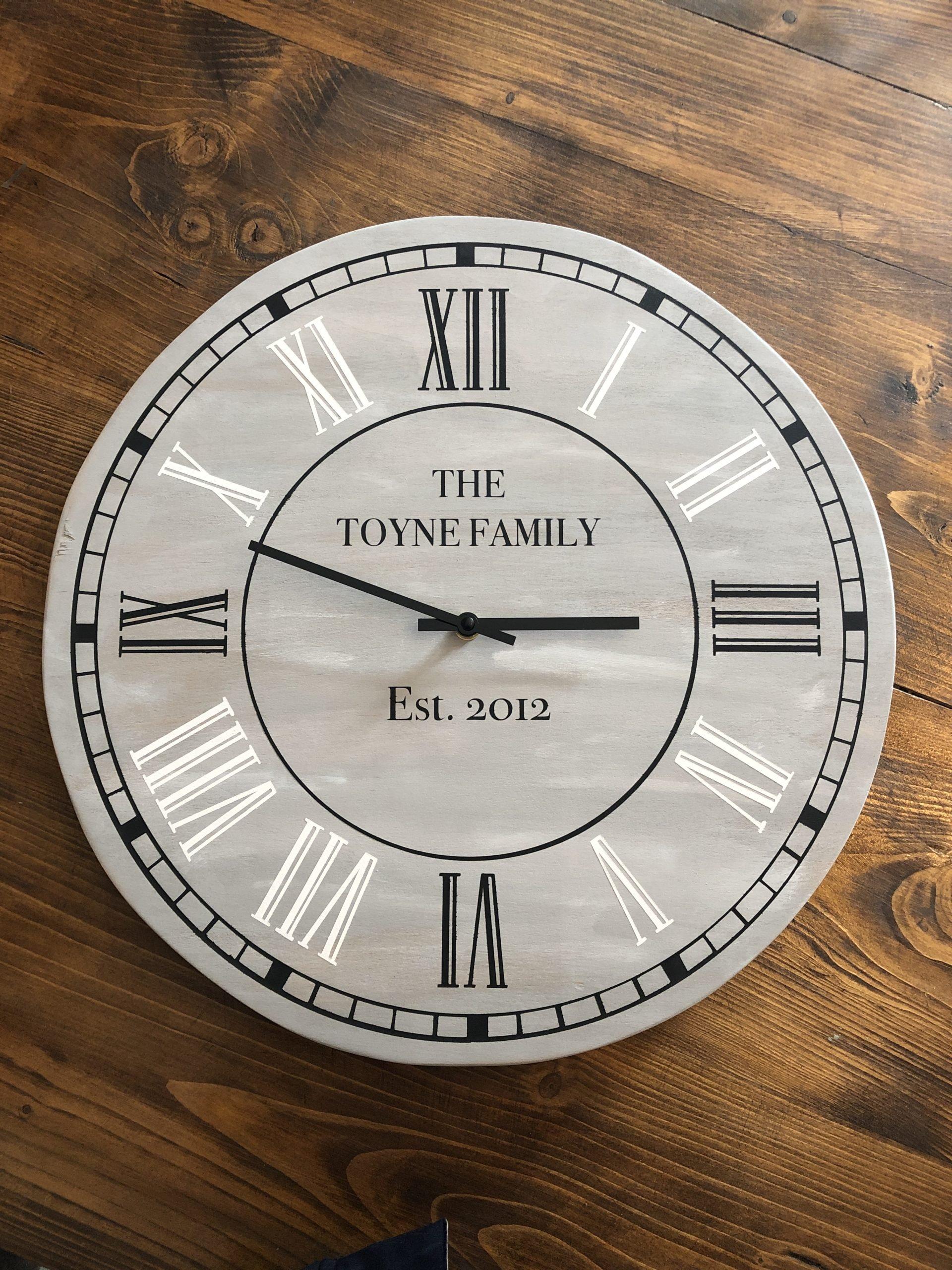 Solid Ply Circle Clock 45cm x 45cm - £30