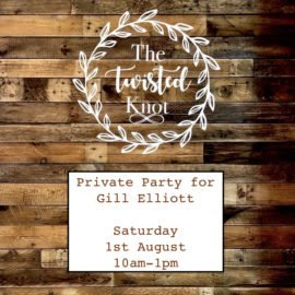 Gill Elliott's Private Party 1st August 10am-1pm
