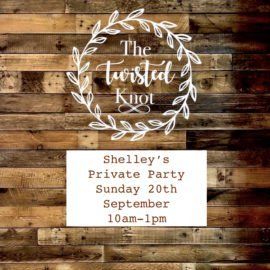 Shelley's Private Party 20th September 10am-1pm