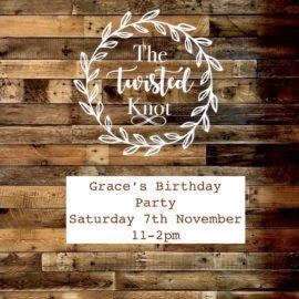 Grace's Birthday party Saturday 7th November 11-2