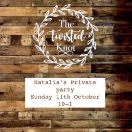 Natalia's Private Party Sunday 11th October 10-1