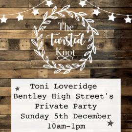 Toni Loveridge Bentley High Street Sunday 5th December 10-1